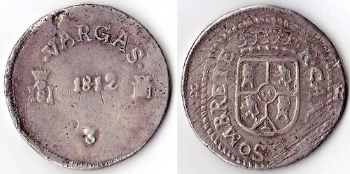 8 Reales 1812 Sombreret