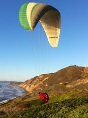 Paraglider over Pacifica