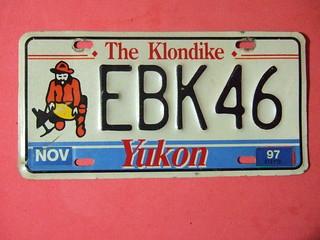 YUKON 1997 ---PASSENGER PLATE #EBK46
