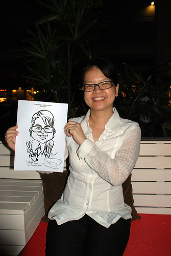 caricature live sketching for Kaleido Vision Pte Ltd Product Launch - 12