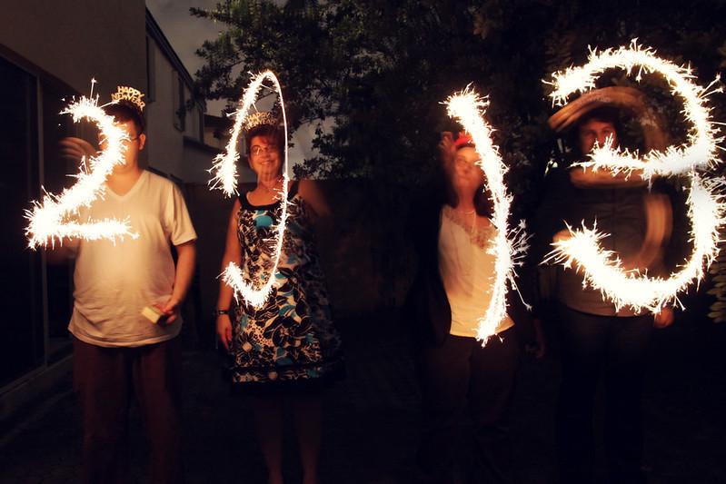 project 12 - December - 5 - sparklers