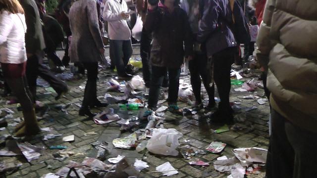 2013台北市跨年晚會垃圾-201301010135-洪惠璟攝-5