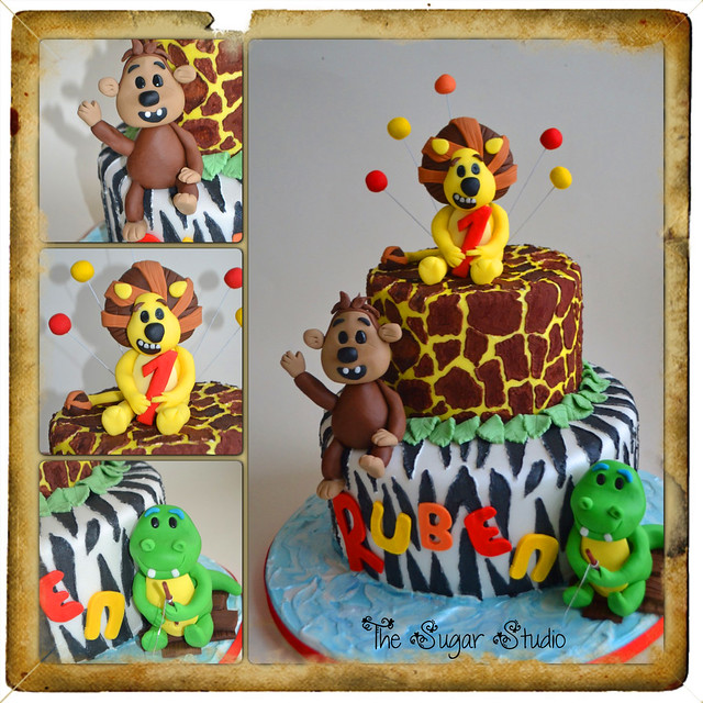 First Birthday Cake Topper Lion Image Inspiration of Cake and