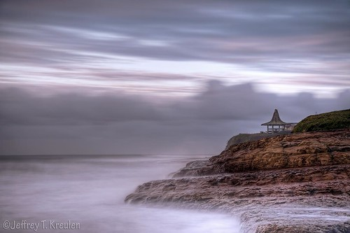 california longexposure sky santacruz rock sunrise coast gazebo pacificocean naturalbridgesstatebeach neutraldensity