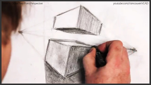 2D design how to draw in two point perspective 026