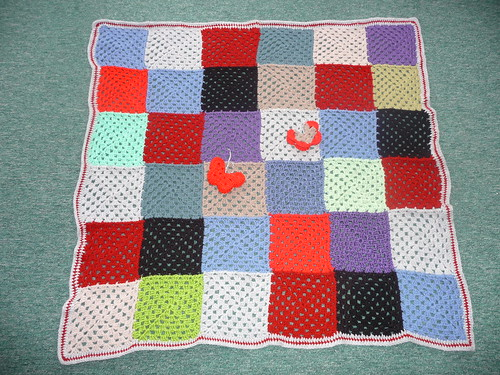 A lovely patchwork Granny blanket.