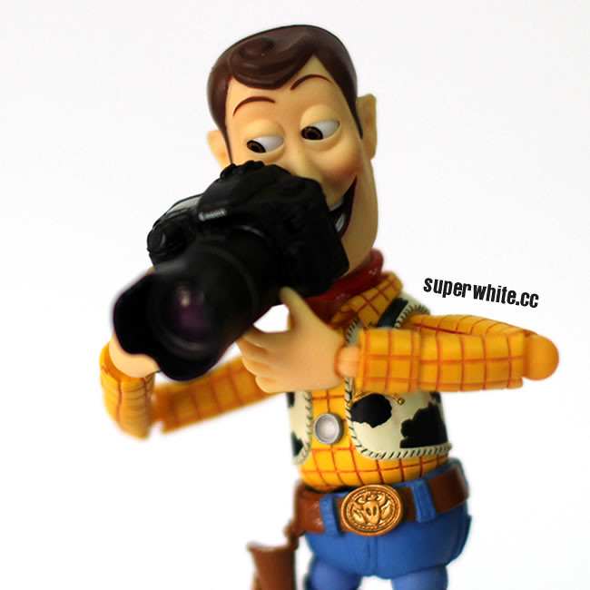 Woody thinks he's a photographer with a DSLR camera, not sure if great photography skills or just Instagram