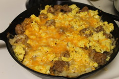 meal, food, dish, scrambled eggs, cuisine, cookware and bakeware,
