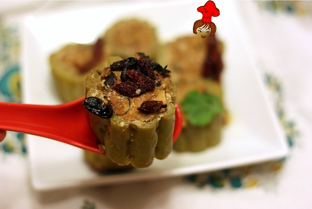 苦瓜鑲肉 Steamed Bitter Gourd Stuffed with Minced Pork 2