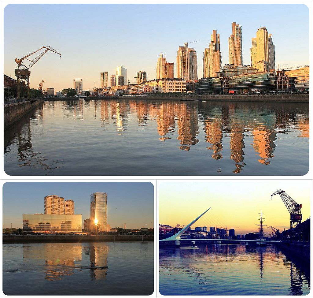 Puerto Madero at sunset