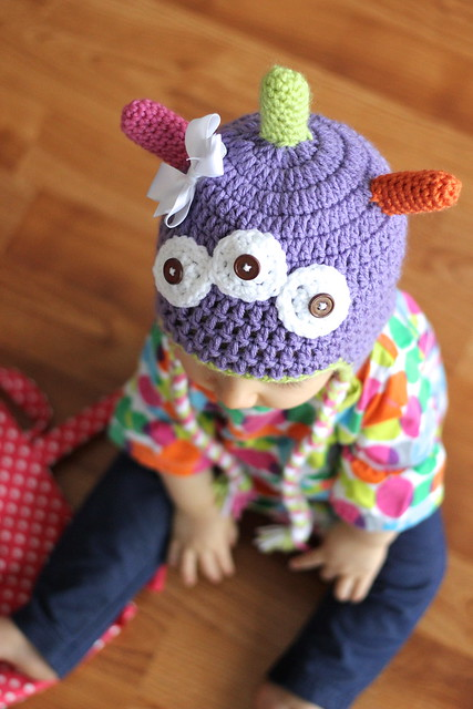 Free Monster Hat Crochet Pattern Daisy Cottage Designs