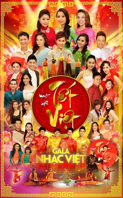 Gala Nhạc Việt 01: Nhạc Hội Tết Việt 2013   2 DVD