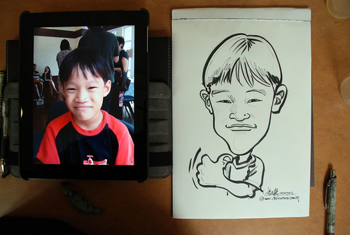 caricature sketching for a birthday party 07072012 - 12