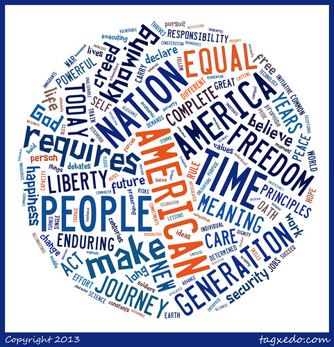 2013 Inauguration Remarks by President Obama via @Tagxedo