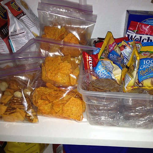 More lunch items and snacks in the pantry ;)