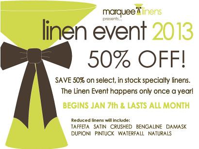 linen event 2013