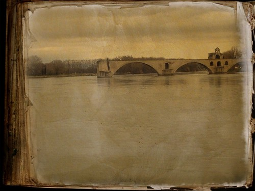 The bridge of Avignon (France).