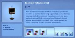 Zeemuth Television Set