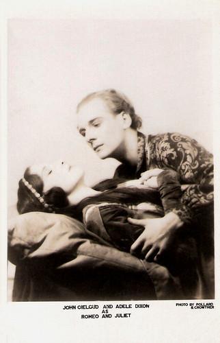 John Gielgud, Adele Dixon as Romeo and Juliet