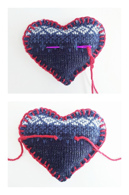 Upcycled Puffy Hearts