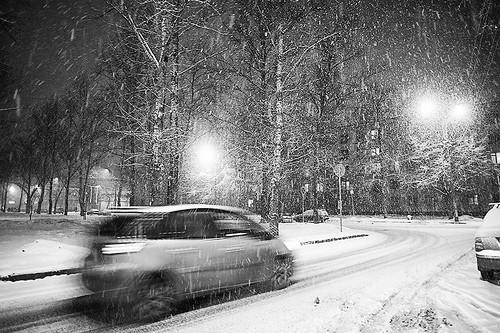 Through the snow-covered town by dyadyavasya