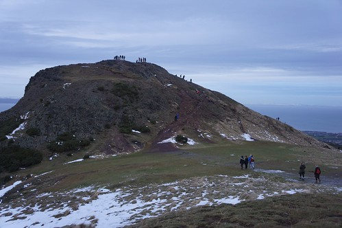 Tourists on Arthur's Seat, Edinburgh