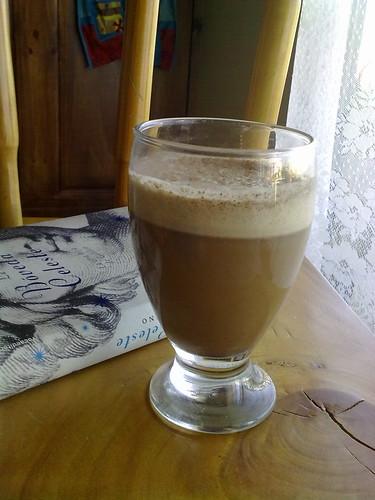 Café helado con leche de almendras