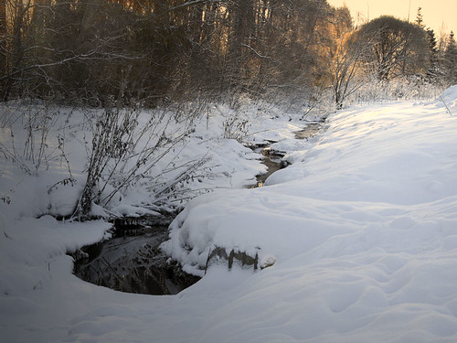 snow snowy brook