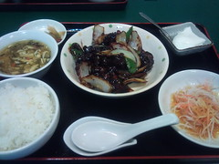 黒酢豚定食