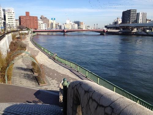 向こうに見えるのが両国橋 by haruhiko_iyota