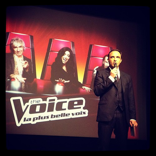 #thevoice @nikosaliagas on stage #connect