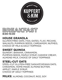 Kupfert & Kim - Breakfast menu