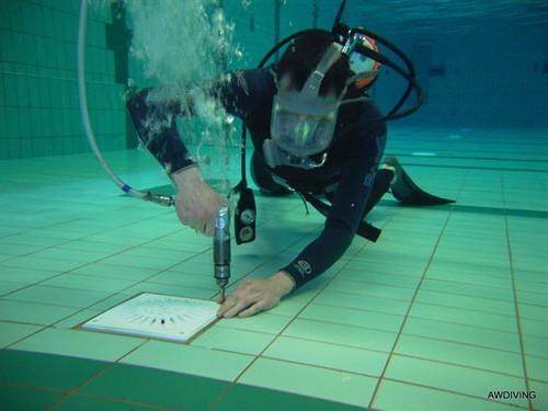 Oring vervangen van inlaat rooster en onderwater boren