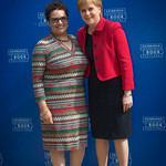 Jackie Kay with Nicola Sturgeon | Scotland's First Minister meets her Makar © Alan McCredie
