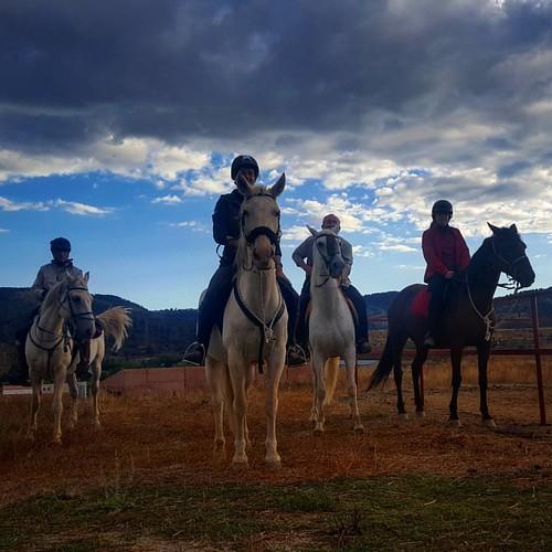 Disfrutando de la #berrea  a caballo en la #SierraDeAlbarracín