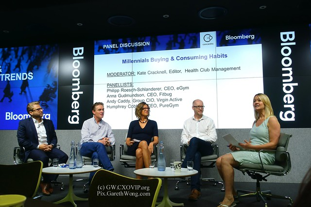 Kate Cracknell, Editor, Health Club Management  PANELLISTS: Philipp Roesch-Schlanderer, CEO, eGym Anna Gudmundson, CEO, Fitbug Andy Caddy, Group CIO, Virgin Active Humphrey Cobbold, CEO, PureGym eWellness millenial habits panel from RAW _DSC3484