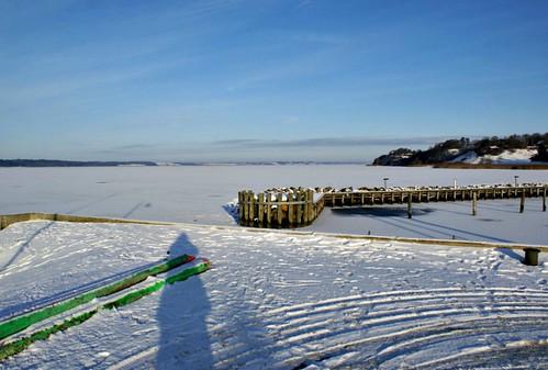 winter frozen fjord hjarbæk