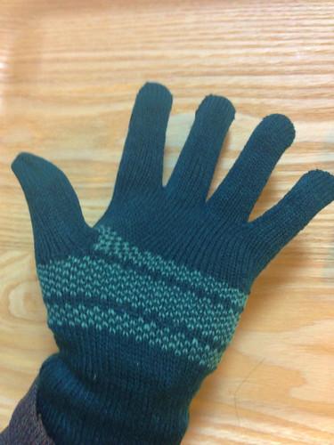 手袋を装着