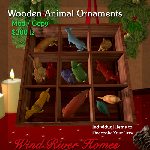 Wooden Animal Ornaments by Teal Freenote