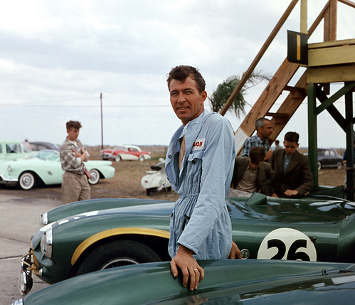 Carroll Shelby at Sebring 1956 by Nigel Smuckatelli