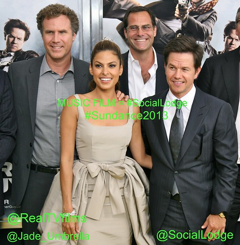 Music   Film = #SocialLodge, Will Ferrell, Eva Mendes, Mark Wahlberg, Director Adam McKay,