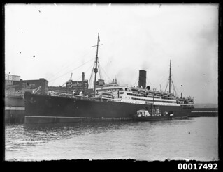 RMS FRANCONIA at West Circular Quay in Sydney