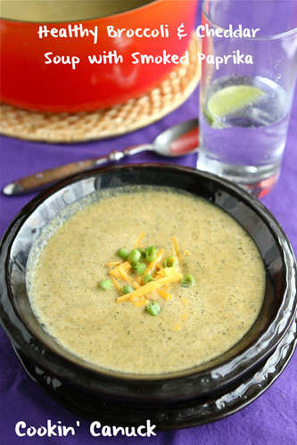 Healthy Broccoli & Cheddar Soup Recipe with Smoked Paprika by Cookin' Canuck