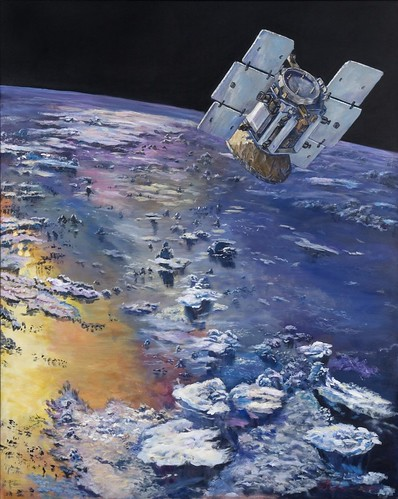 Artwork by GLOBE scientist and artist, Dr. Graeme Stephens, Principal Investigator of the NASA CloudSat mission. GLOBE cloud observations are used by the CloudSat team to provide ground truth data for the satellite.