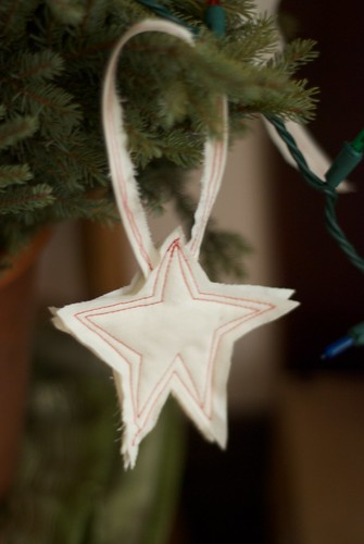 stitched star ornament
