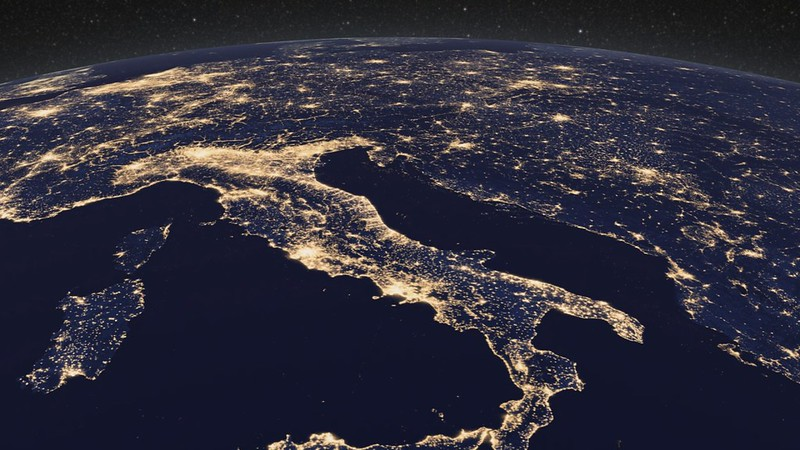Earth at Night, Europe [hd video]