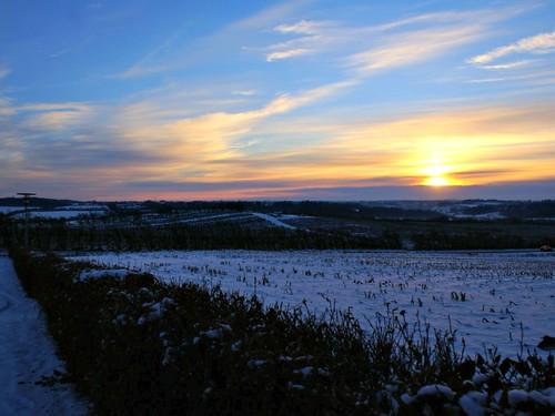 winter sunset landscape explore