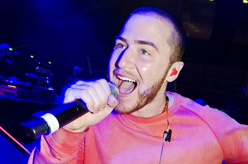 Mike Posner at Big Sean soundcheck at The Palace of Auburn Hills, 12/01/12