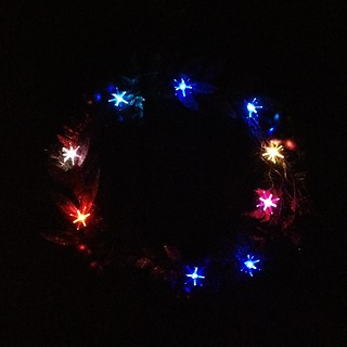 Christmas 2012 Wreath at Night