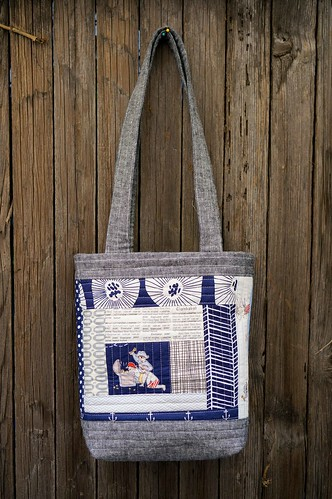 mini perfect quilted tote side a